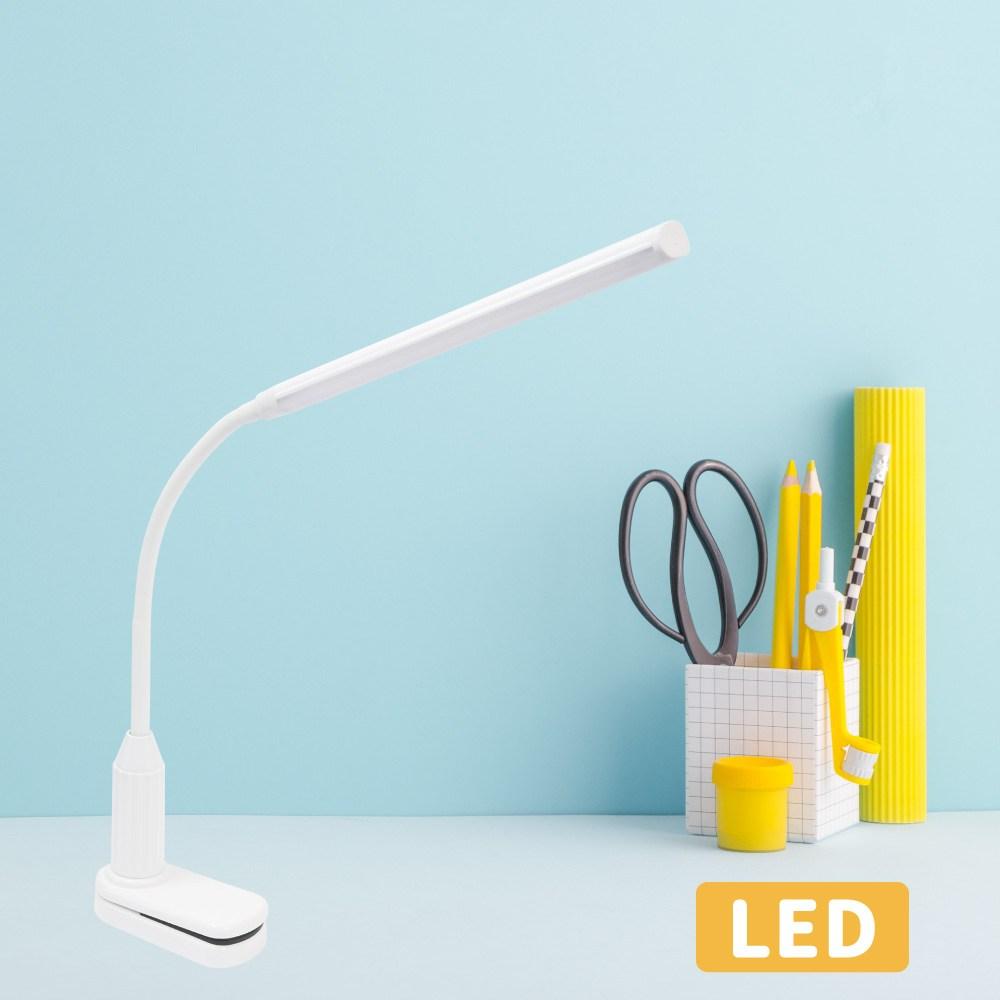 LED護眼軟管檯燈夾燈-可調光