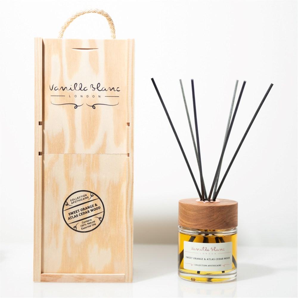 VANILLA BLANC 木製擴香禮盒-薰衣草&香根草100ml
