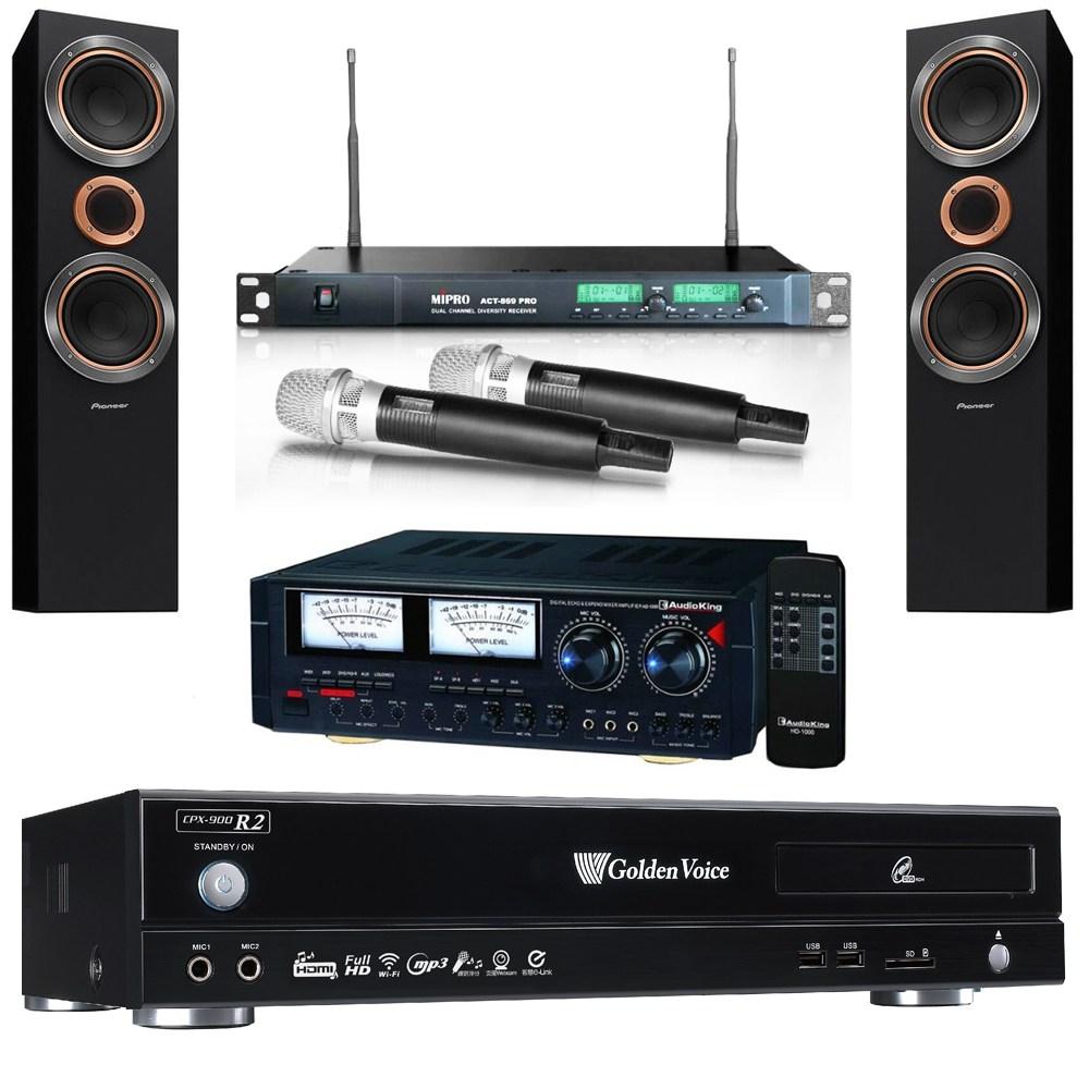 金嗓R2伴唱機4TB+擴大機+無線麥克風+主喇叭