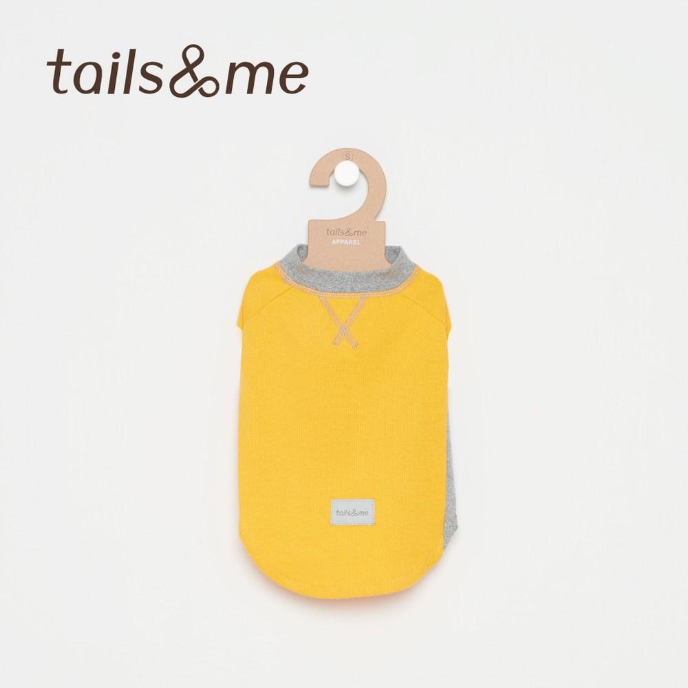 Tails&Me 尾巴與我-無袖撞色磨毛上衣(XS)黃