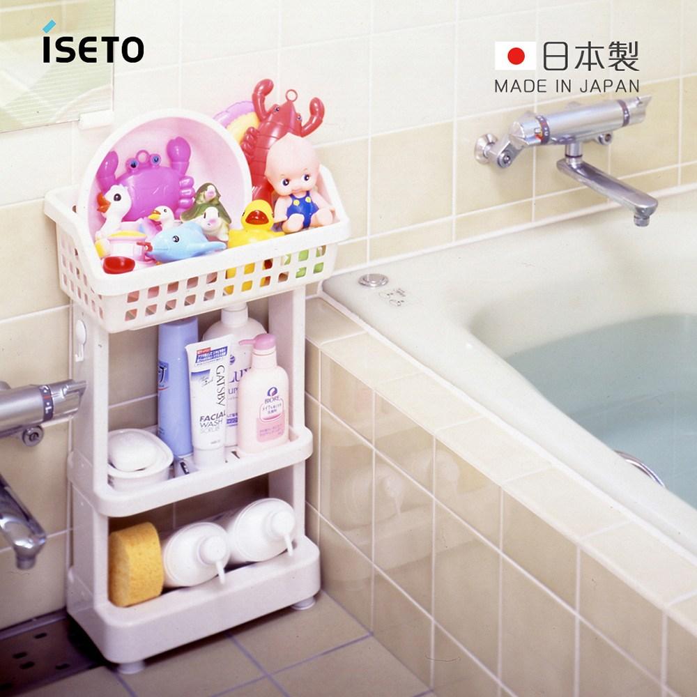 【日本ISETO】日製浴室斜取置物架-3層3層