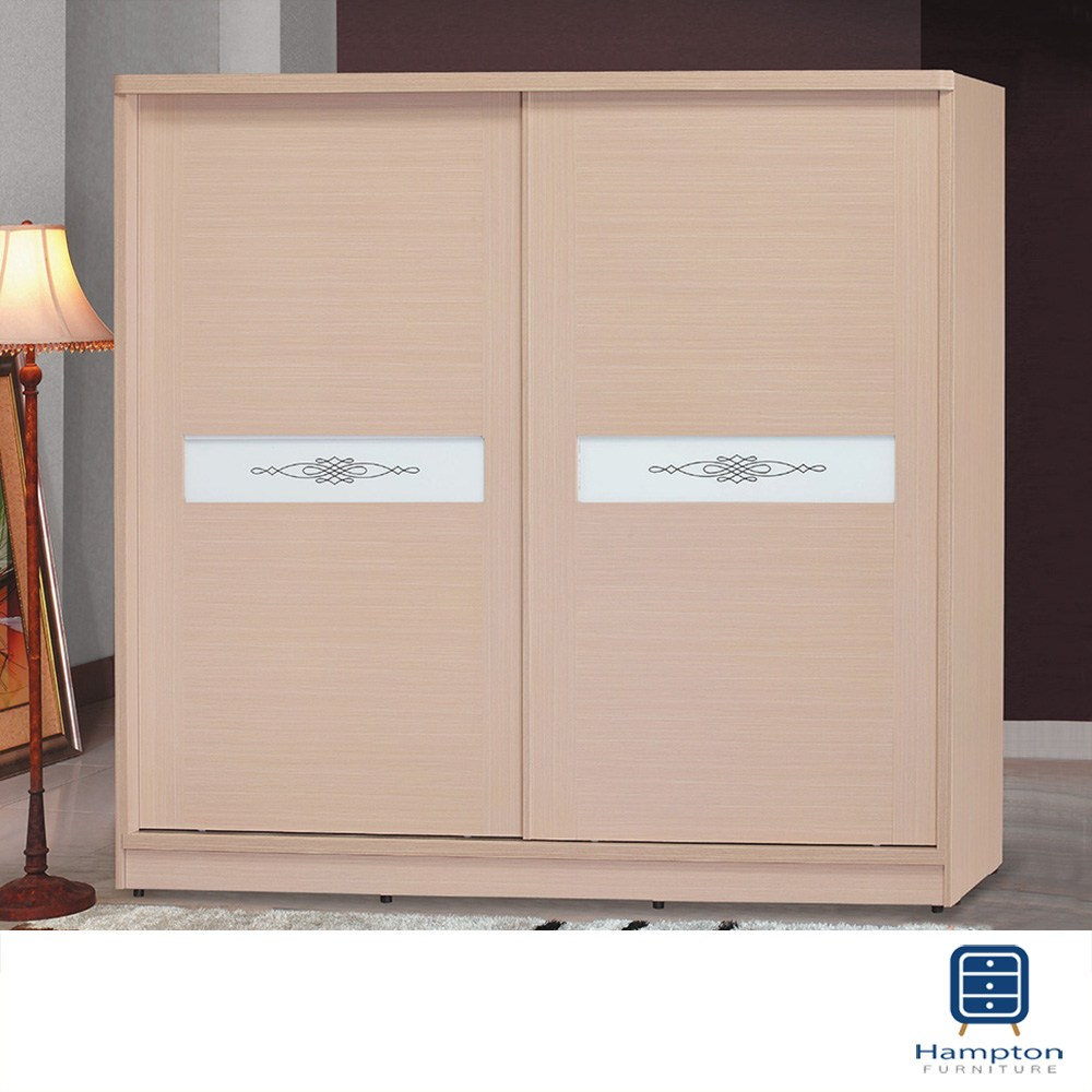 【Hampton 漢汀堡】茱妮白橡木7×7尺衣櫥