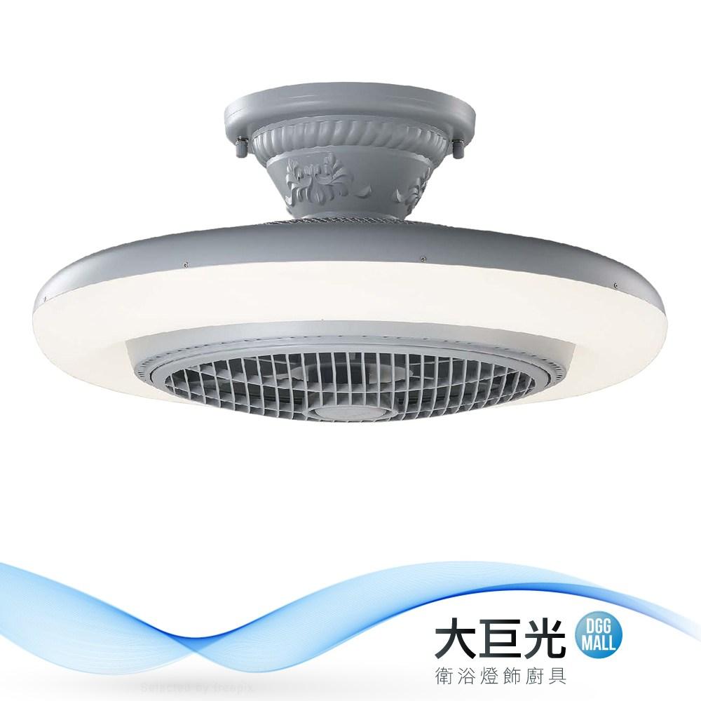 【大巨光】負離子風扇燈-附LED 36W 半吸頂燈(ME-0901)