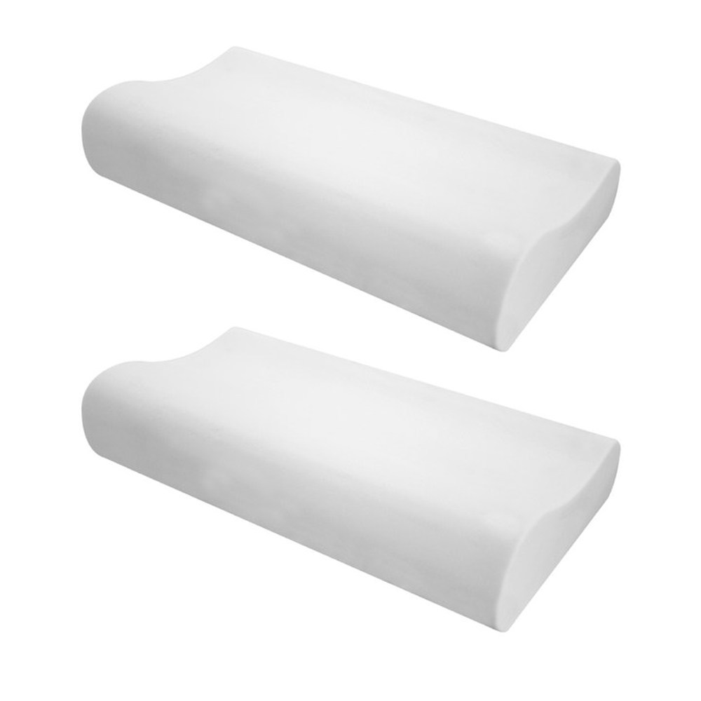 (組)高密度防螨抗菌記憶枕 曲線型H12CM兩入組