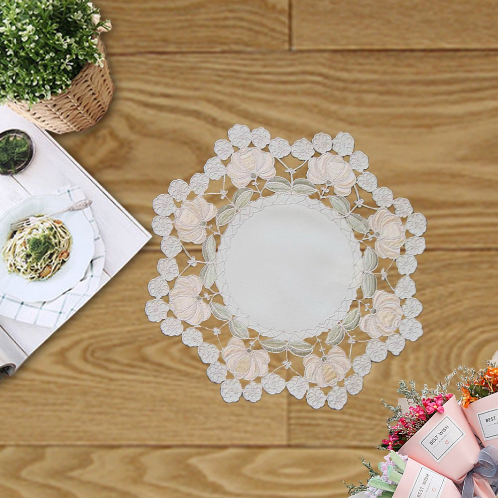 【J&N】織花現代古典桌巾20R(任選2入)米白色