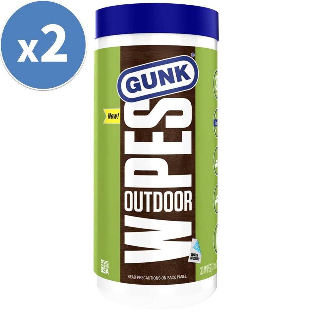 【美國GUNK】戶外表面除污溼紙巾(每組2罐)(30抽)