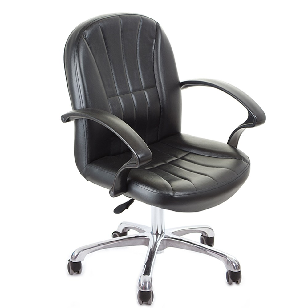 GXG 短背皮面 電腦椅 (鋁合金腳) TW-1011 LU