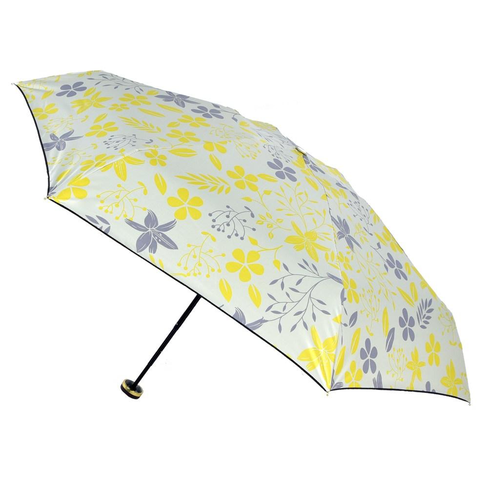 2mm 100%遮光 采漾印花黑膠降溫五折手開傘_花朵
