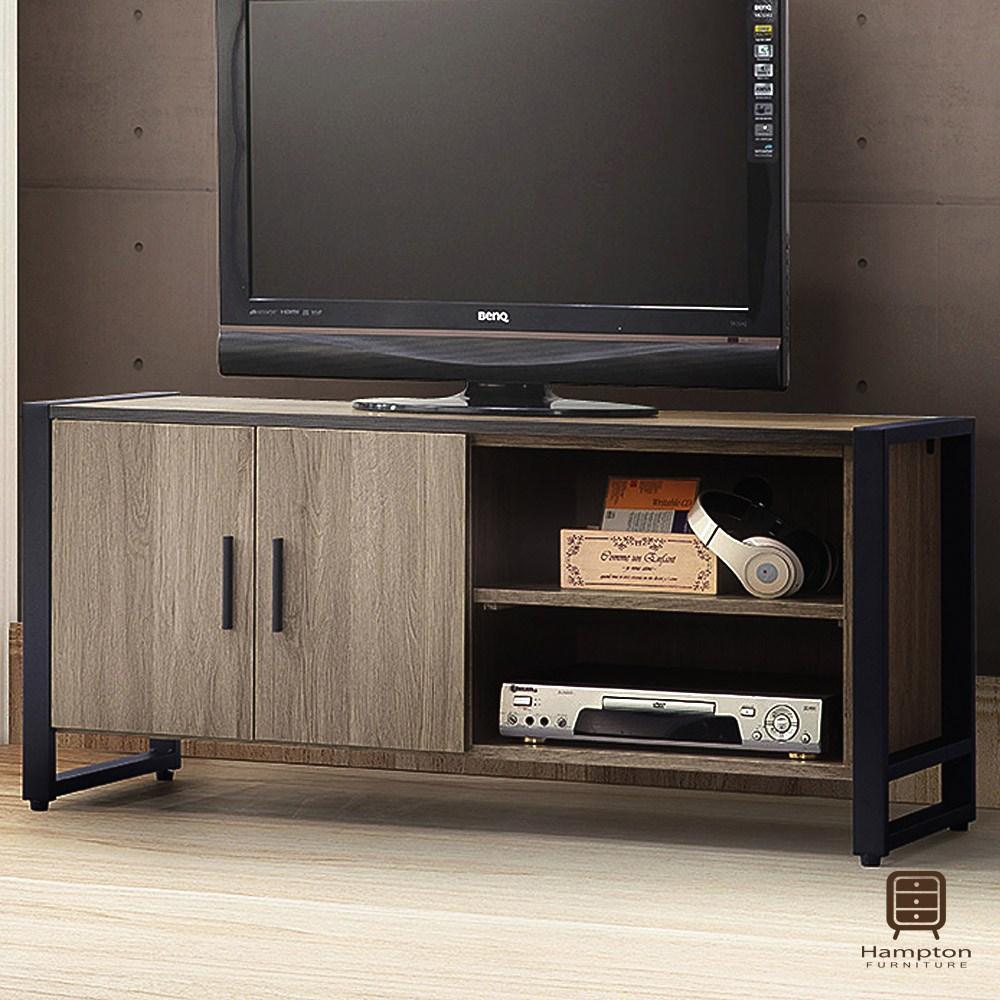 【Hampton 漢汀堡】佩敦灰橡4尺電視櫃