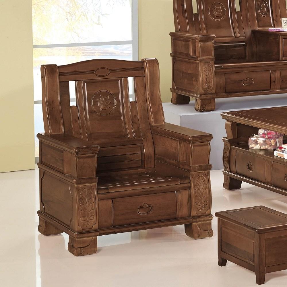 香樟實木單人椅