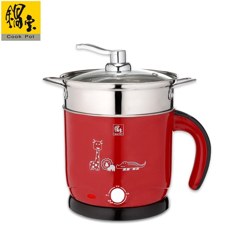 【鍋寶】雙層防燙多功能美食鍋-1.8L 紅色 BF-1609R