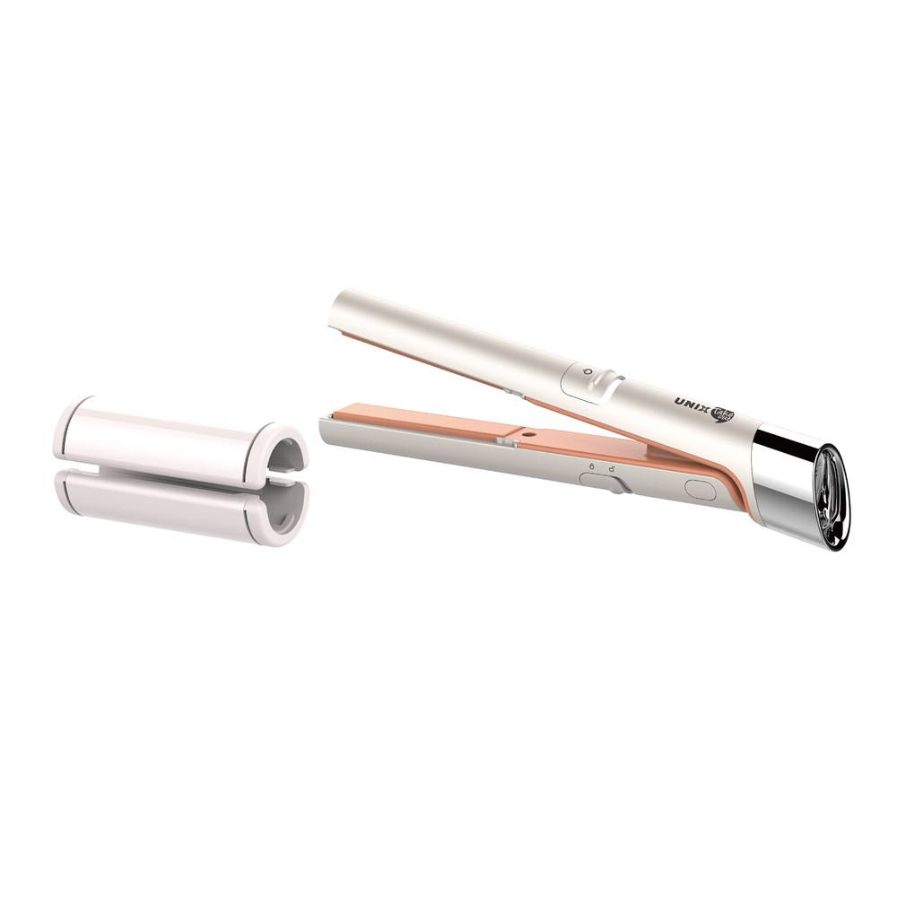 【UNIX】USB插電迷你兩用直髮器-白(UCI-A2773TW)