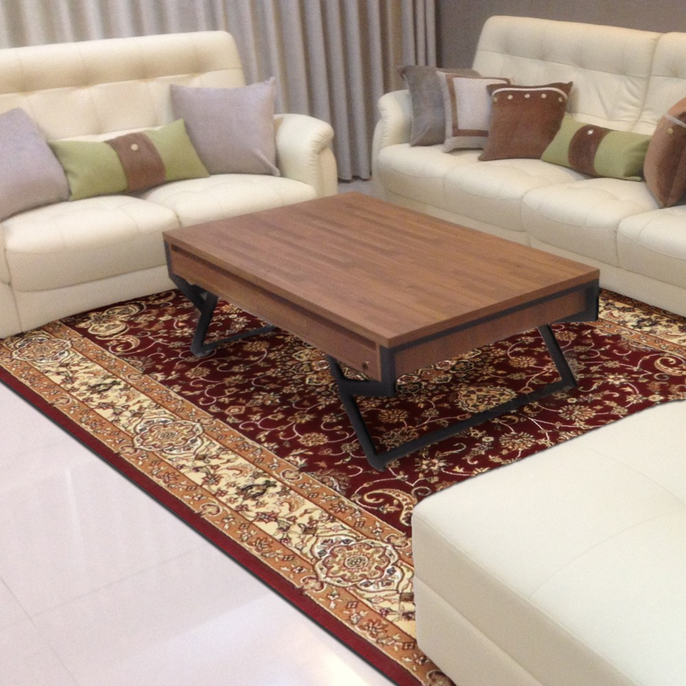 【YFS】古典羊毛地毯-繁星紅160x230cm