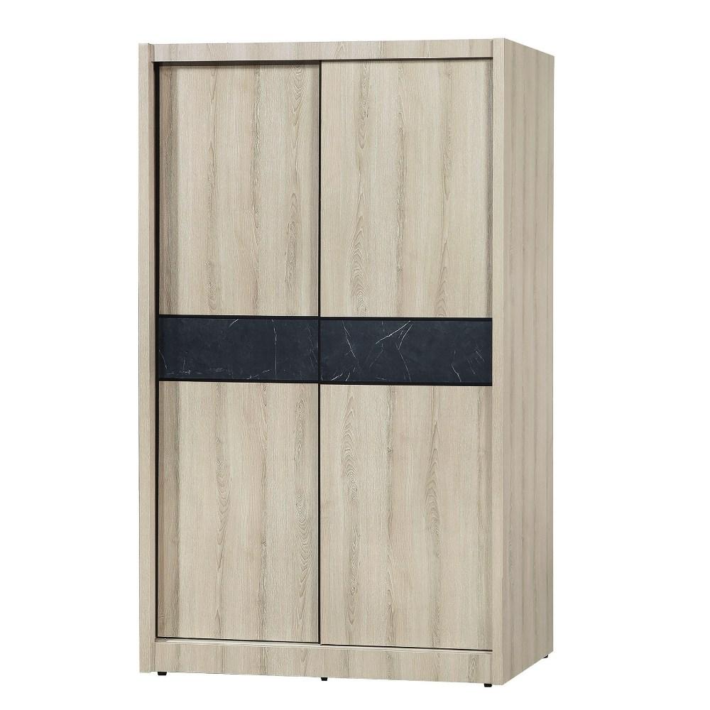 【MUNA 家居】亞倫4X7尺推門衣櫥/衣櫃