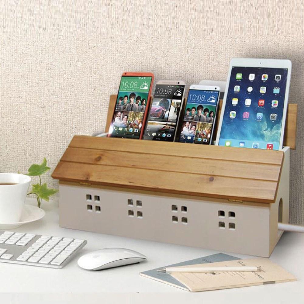 《C&B》鄉村趣古木調加強版電線收納盒
