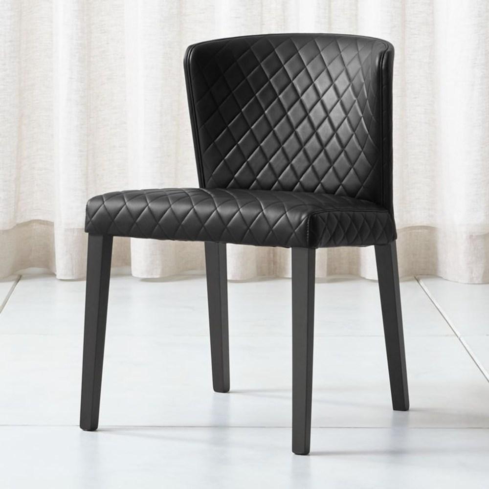 Crate&Barrel Curran 菱格餐椅 黑色