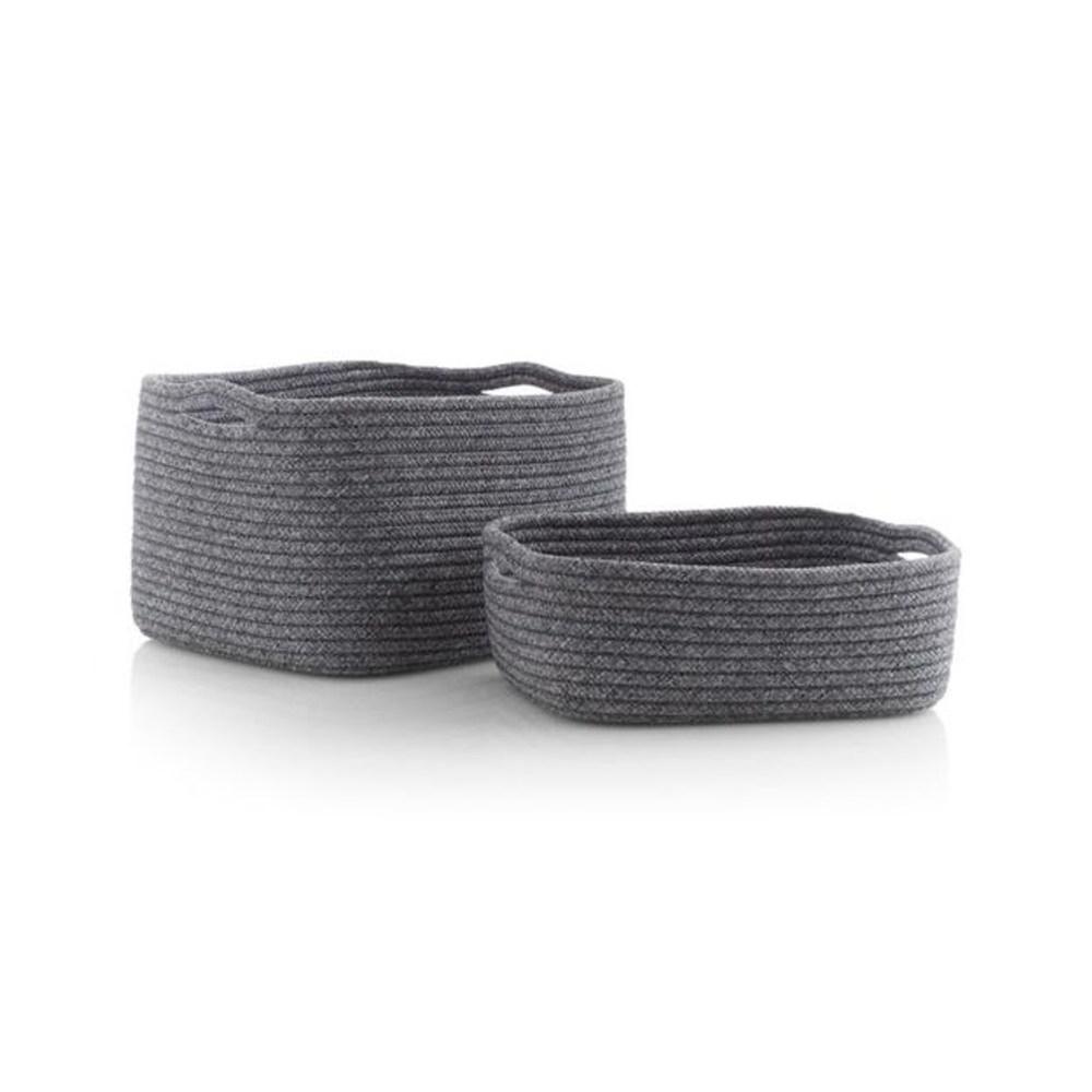Crate&Barrel Lupe 置物籃 (S) 灰