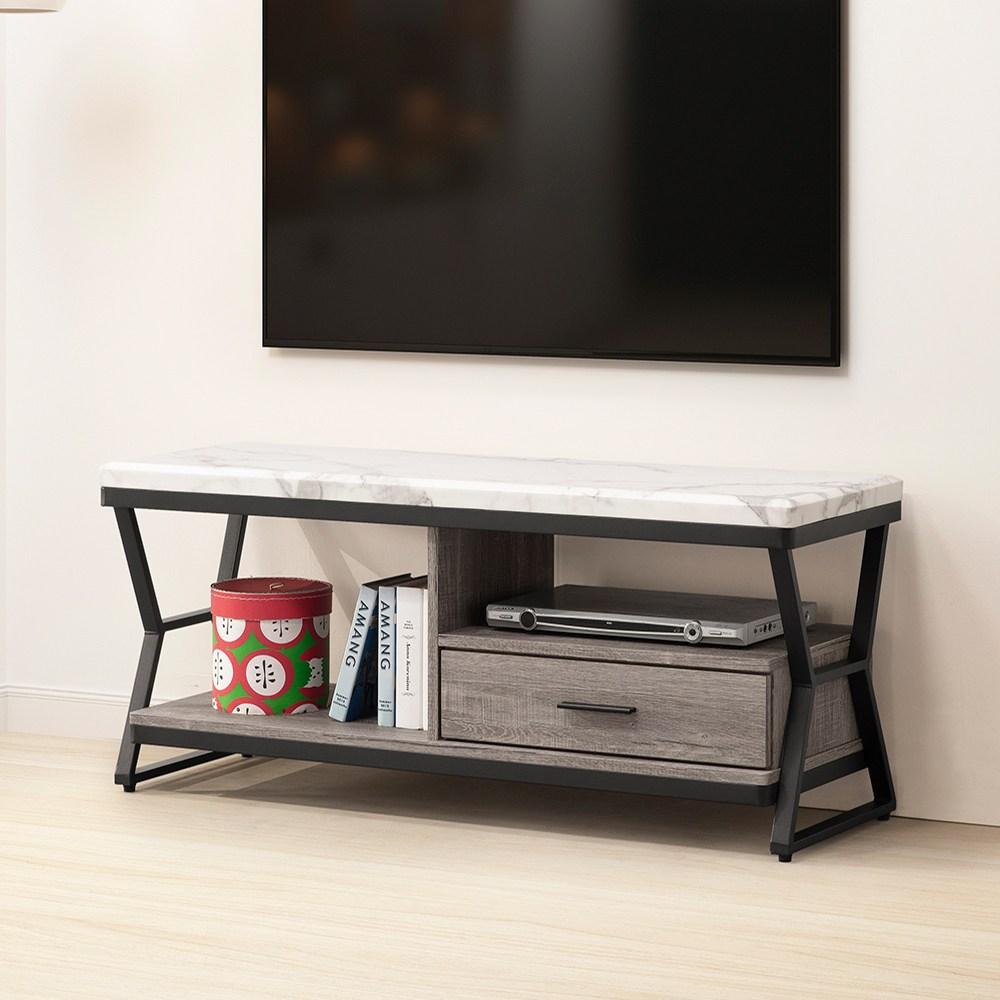 Homelike 維文仿石紋4尺電視櫃-含組裝