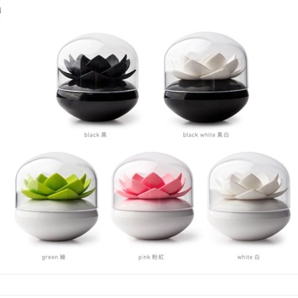 QUALY|蓮花好棒-棉棒盒(黑+白)