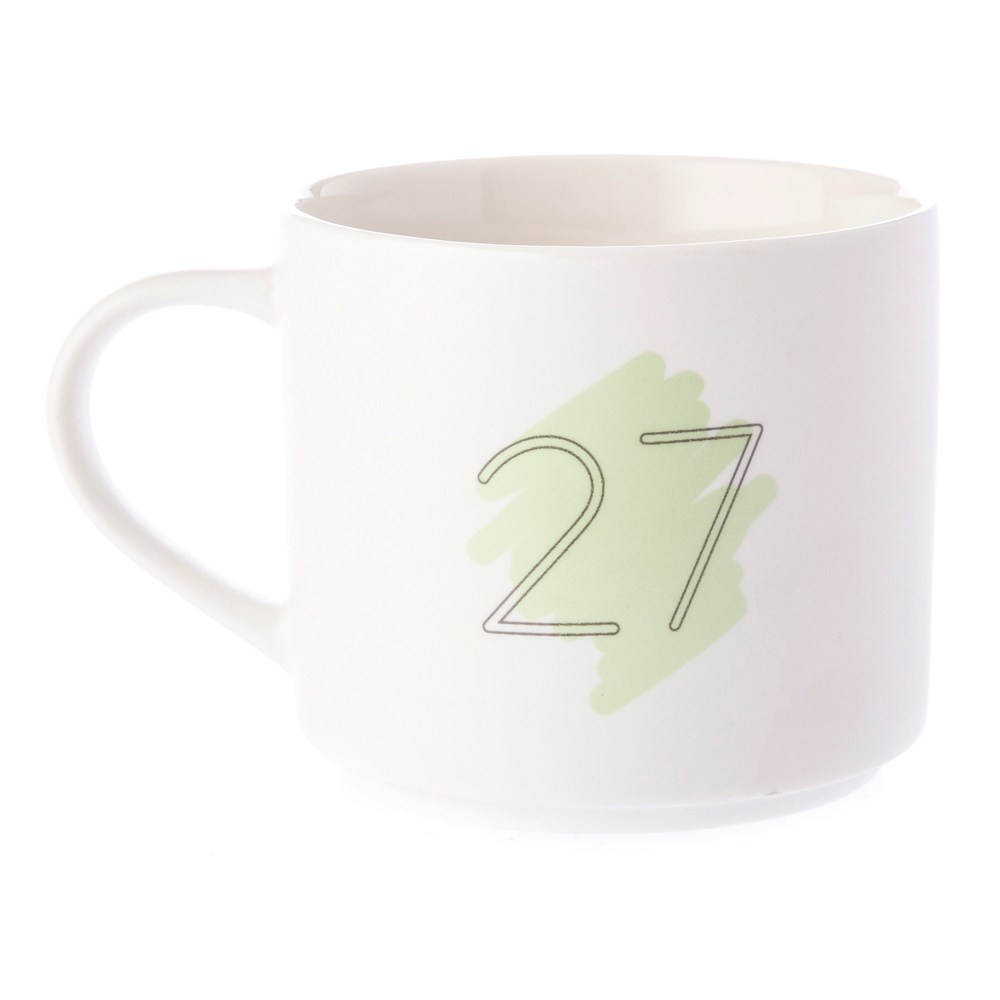 HOLA 數字馬克杯 27號 380ml 27th Twenty-seventh