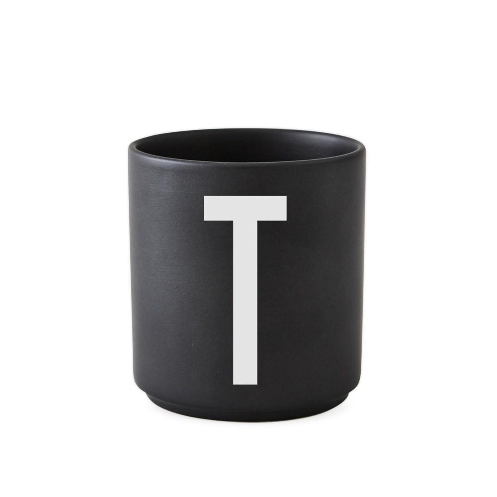 Design Letters 字母骨瓷杯黑 T