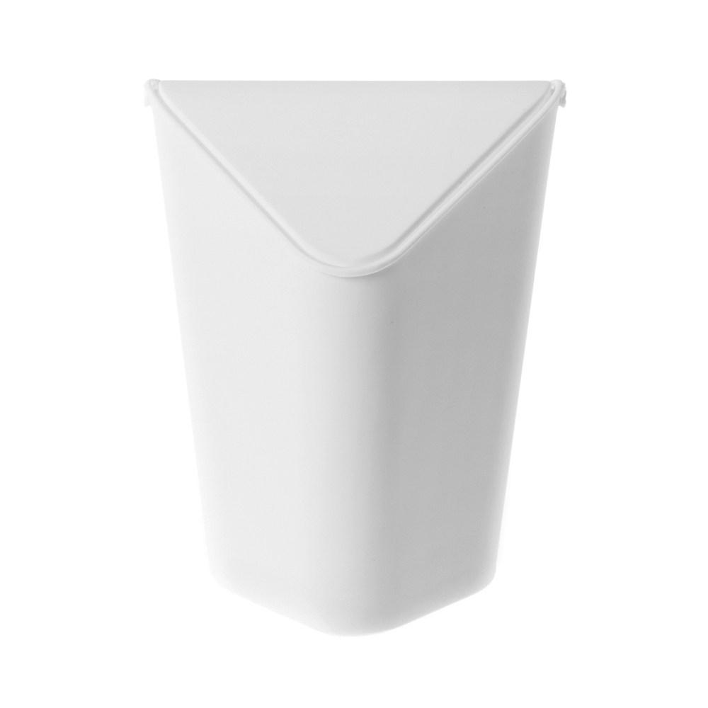 多佛桌上型三角垃圾桶 1.6L 白