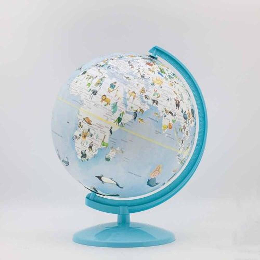 SkyGlobe 10吋可愛動物插圖塑膠地球儀(中英文對照)