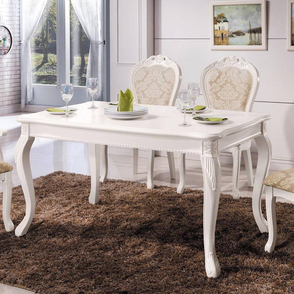 奧琳娜白色法式餐桌
