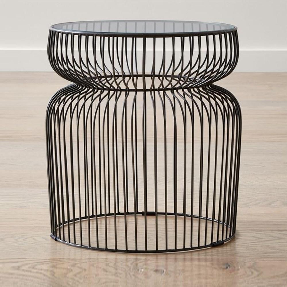 (組)Crate&Barrel Spoke 邊桌 玻璃