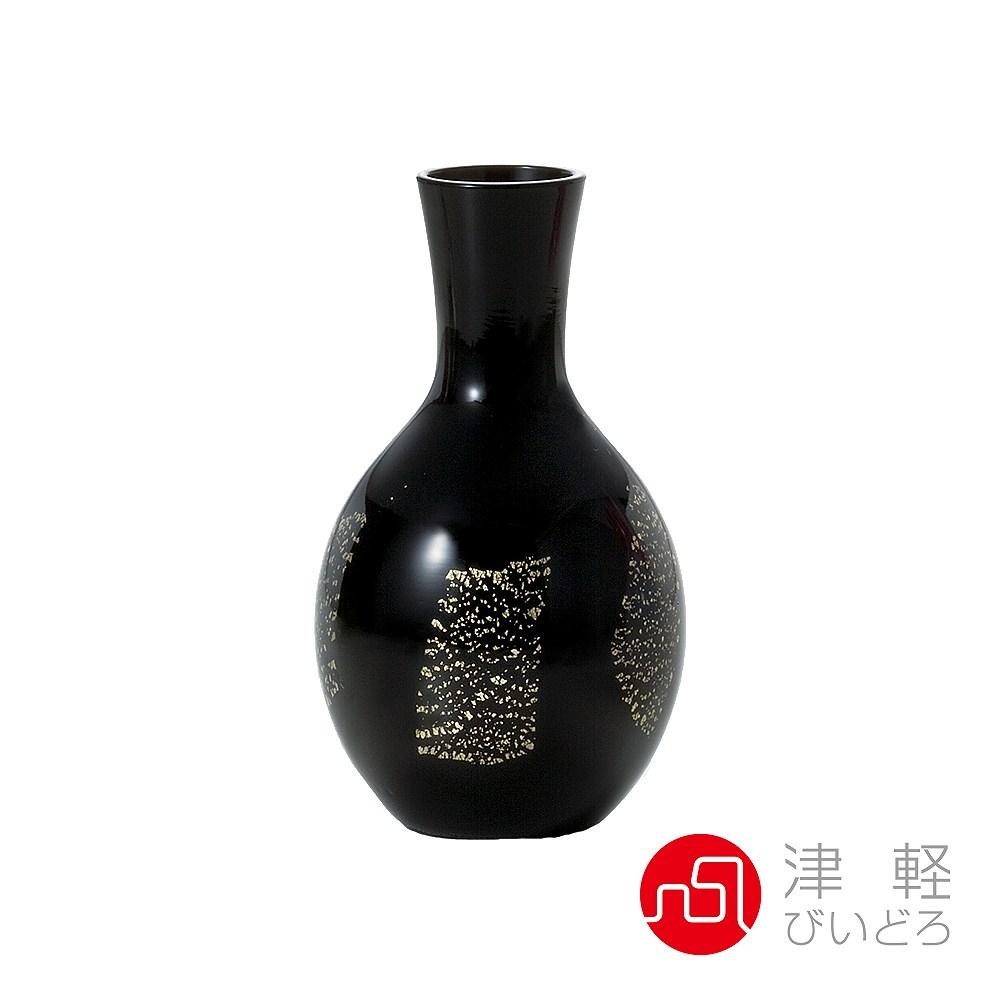 日本津輕 德利金箔清酒壺-共2色黑