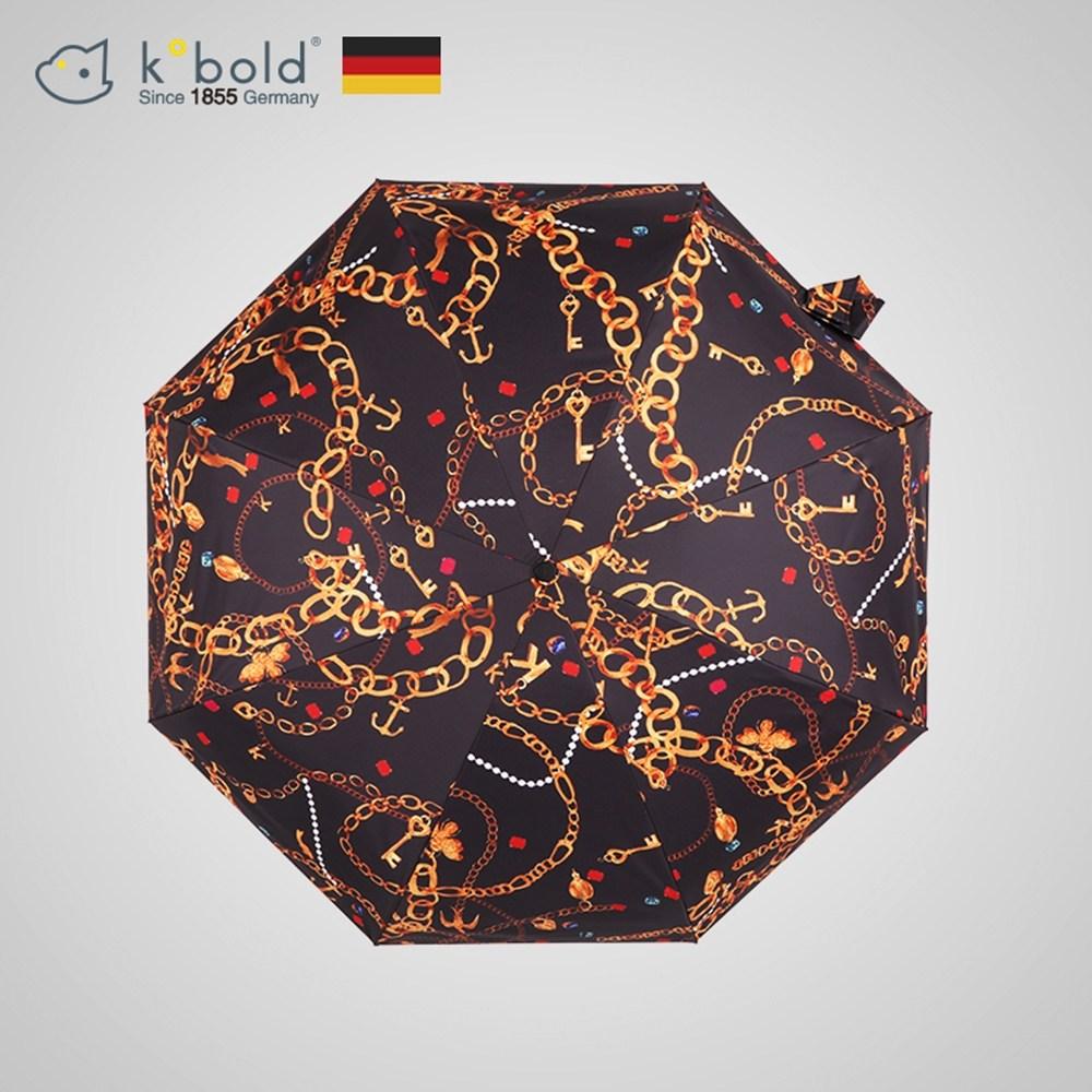 【德國kobold酷波德】矽膠頭系列-8K超輕巧抗UV五折傘-黑色