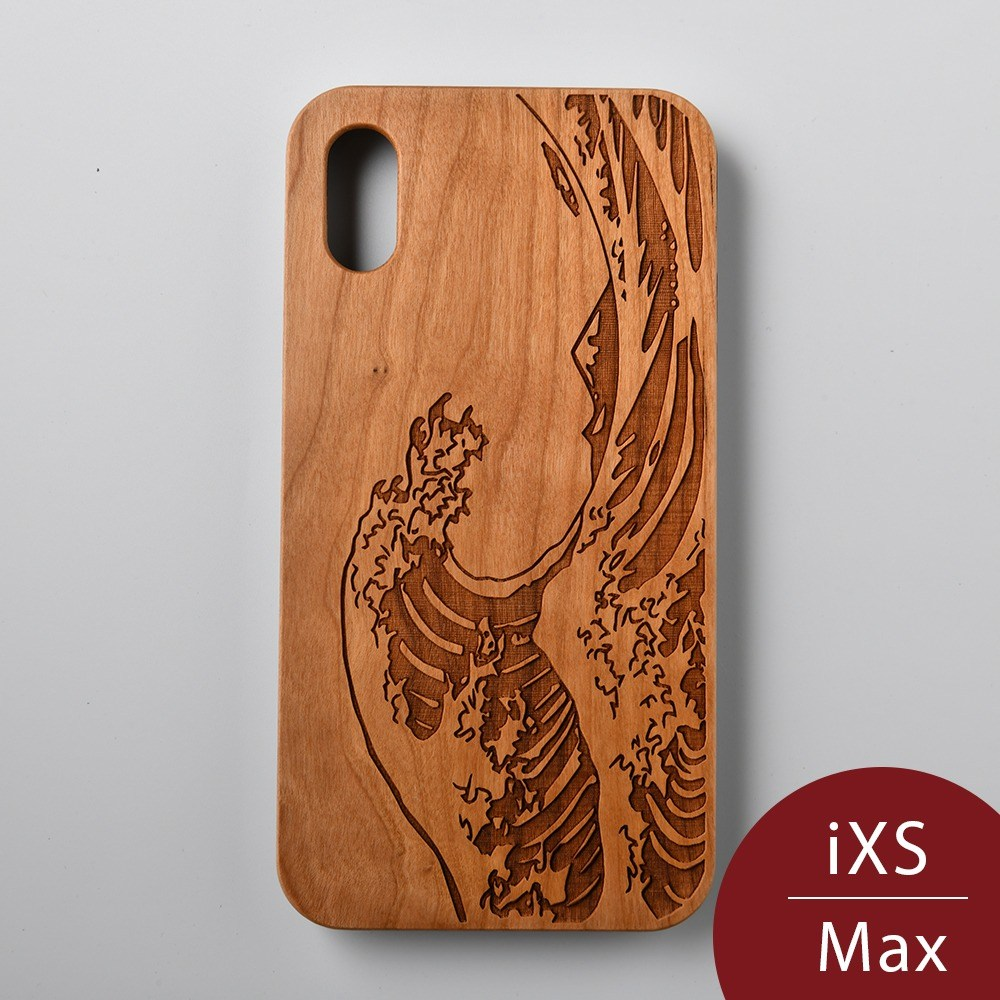 Woodu 木製手機殼 追浪者 iPhone XS Max適用