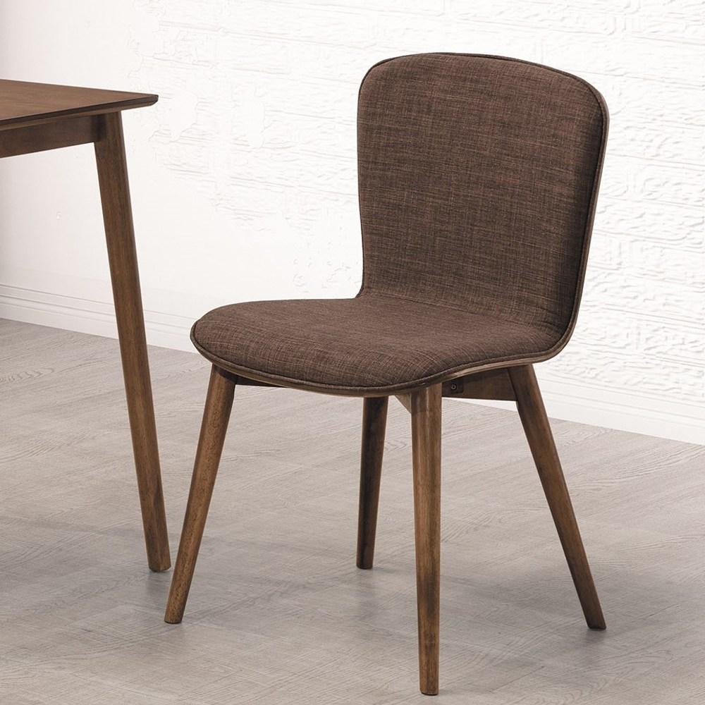 喬克淺胡桃咖啡布餐椅