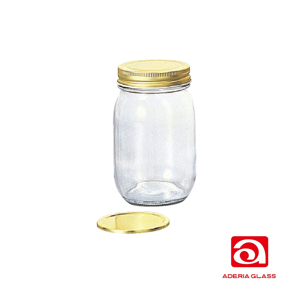 日本ADERIA 雙蓋玻璃儲物罐475ml