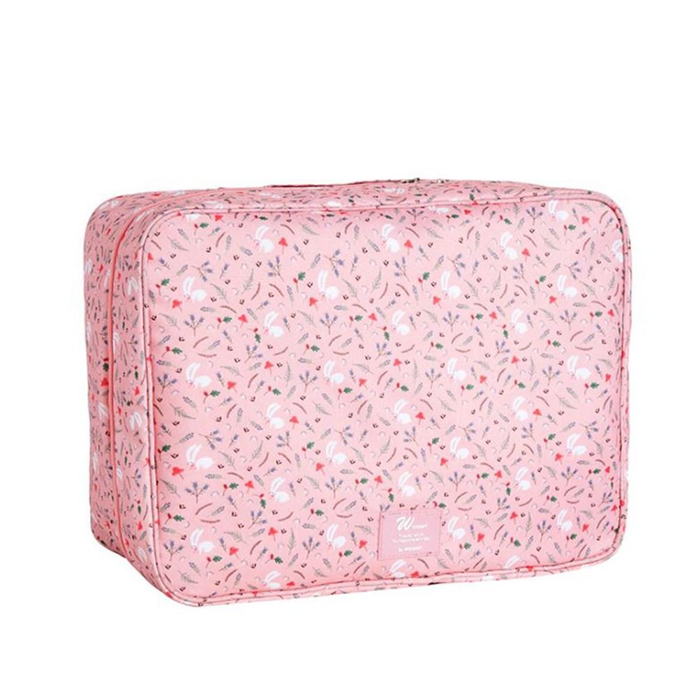 【韓版】多彩繽紛旅遊行李拉桿包/小型手提行李箱(粉色)
