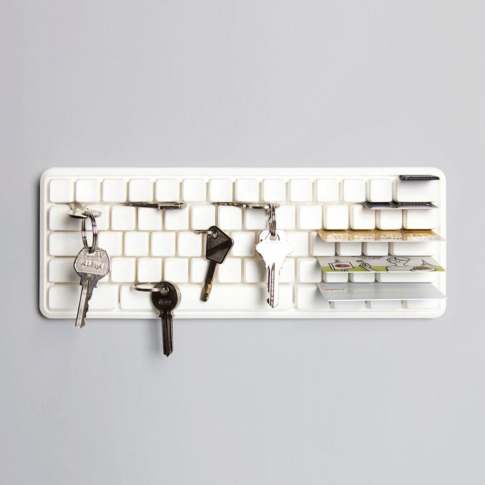 QUALY 鍵盤壁掛-鑰匙收納架(白)