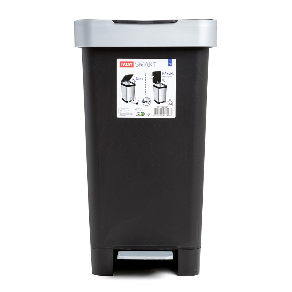 西班牙TATAY分類垃圾桶25L-黑