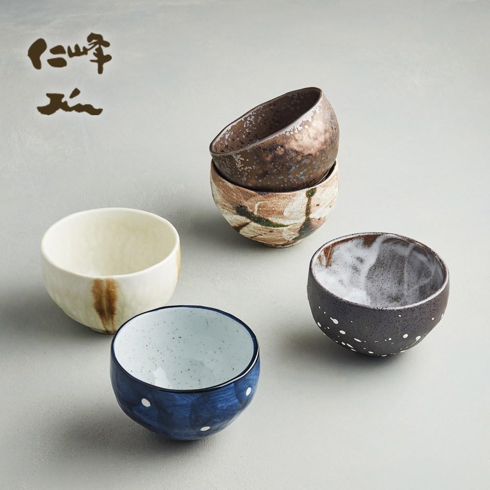 【有種創意】日本美濃燒 - 禪風釉燒小丼碗組 (5件式)