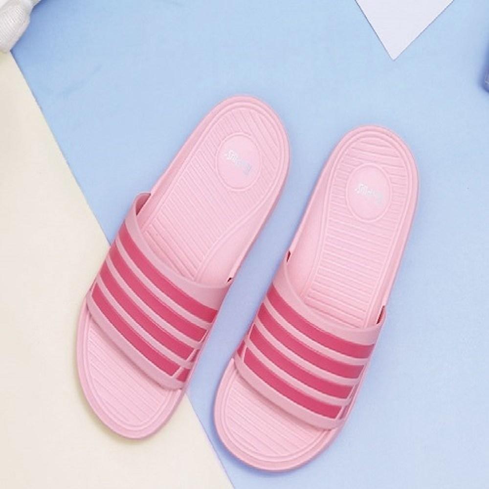 93005潮流雙色帶童拖鞋-粉22