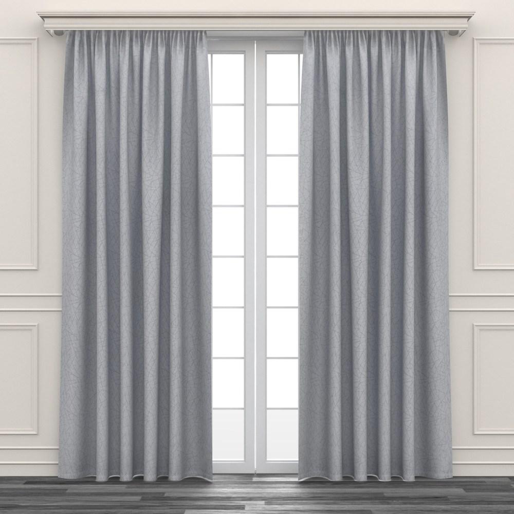 銀樹幾何緹花遮光窗簾 寬290x高210cm