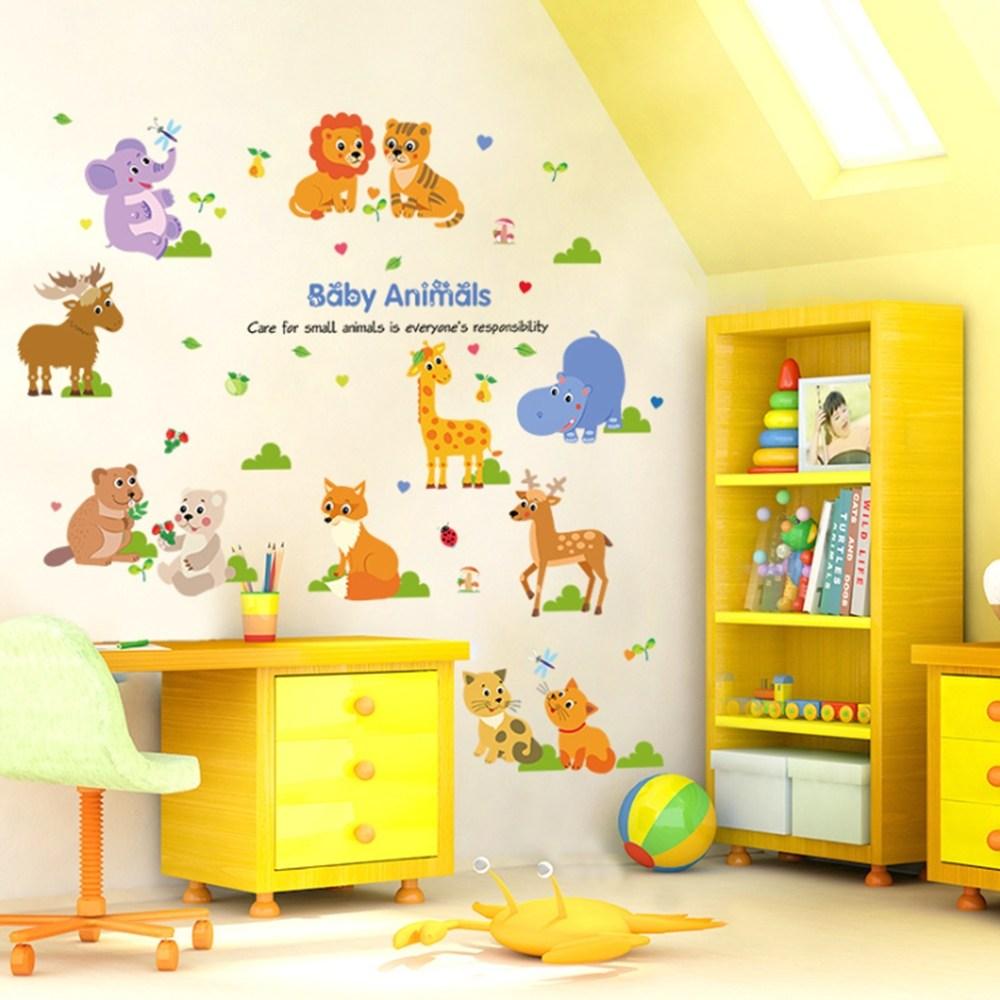 【Loviisa Animals Baby】無痕壁貼 壁紙