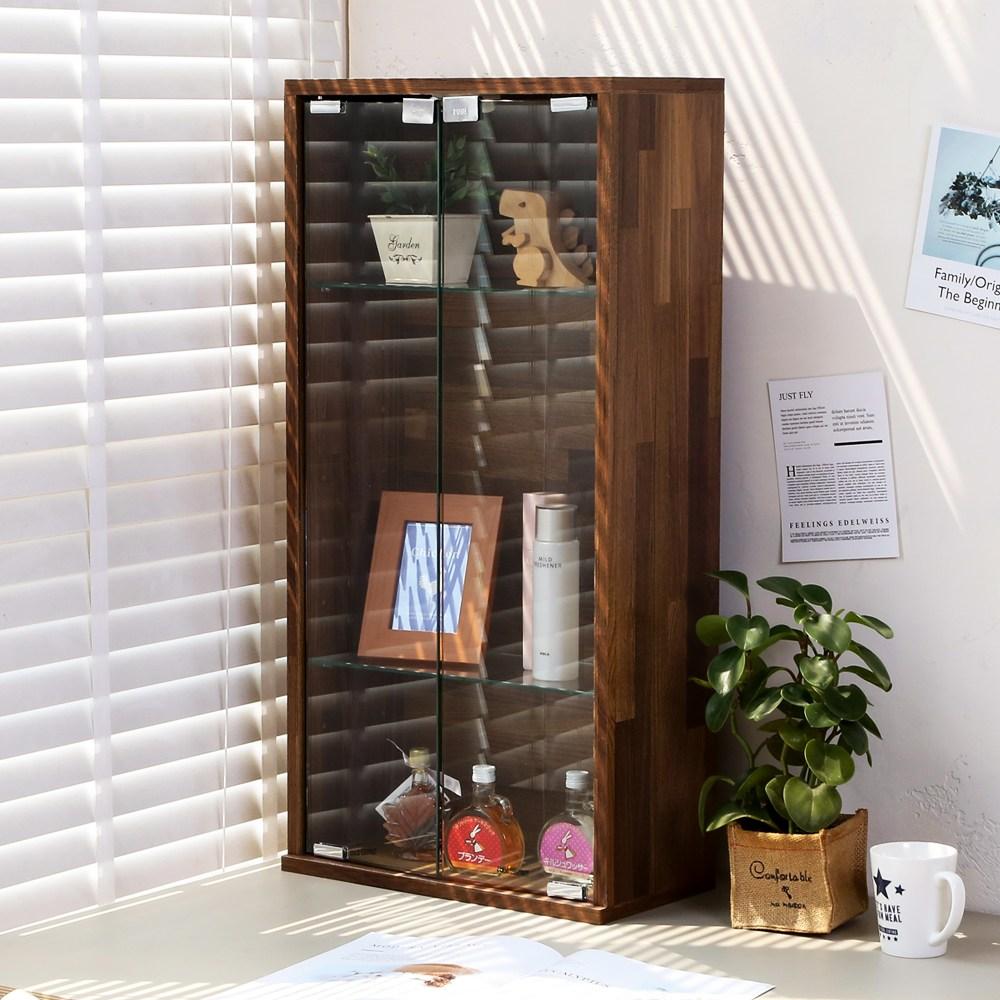 【澄境】80CM精品收納展示櫃集成木紋