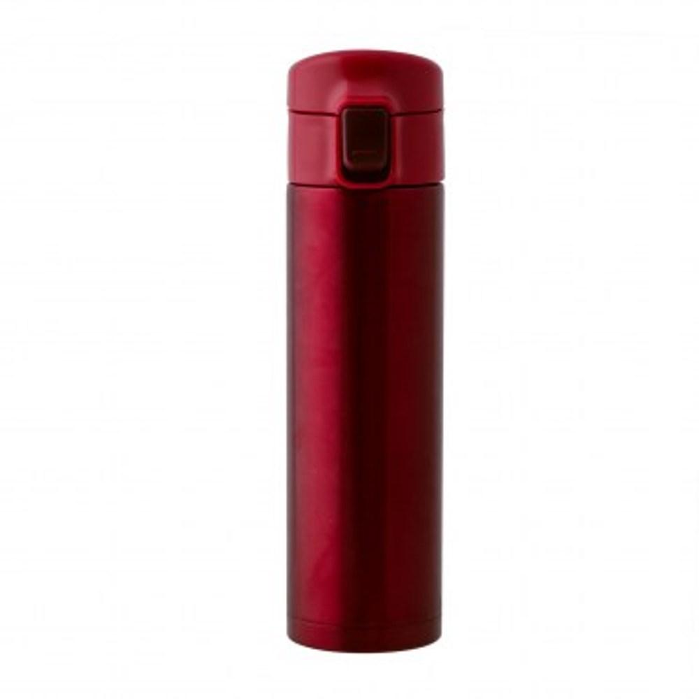 HOLA home 經典彈跳保溫瓶350ml 紅色