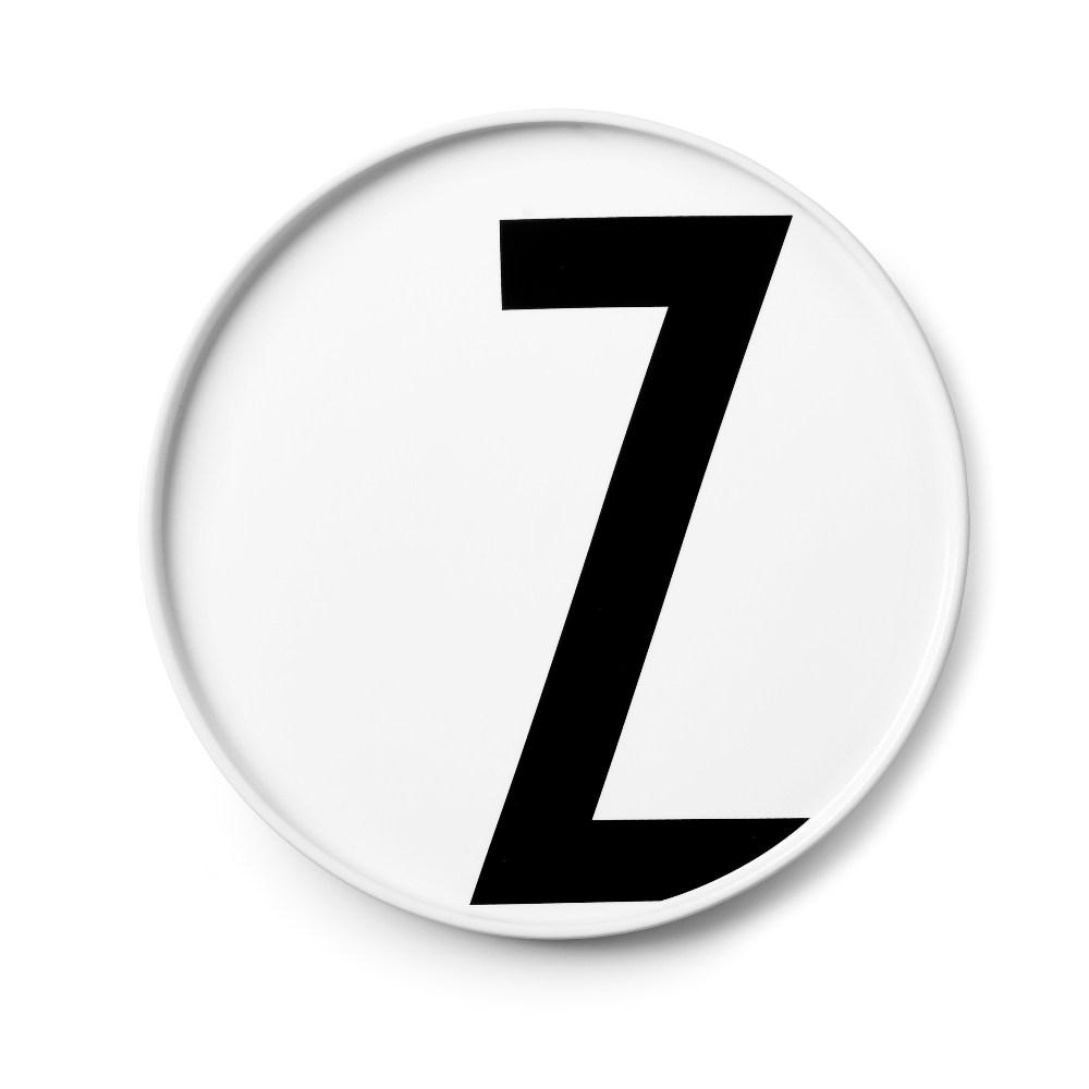 Design Letters 字母骨瓷平盤 Z