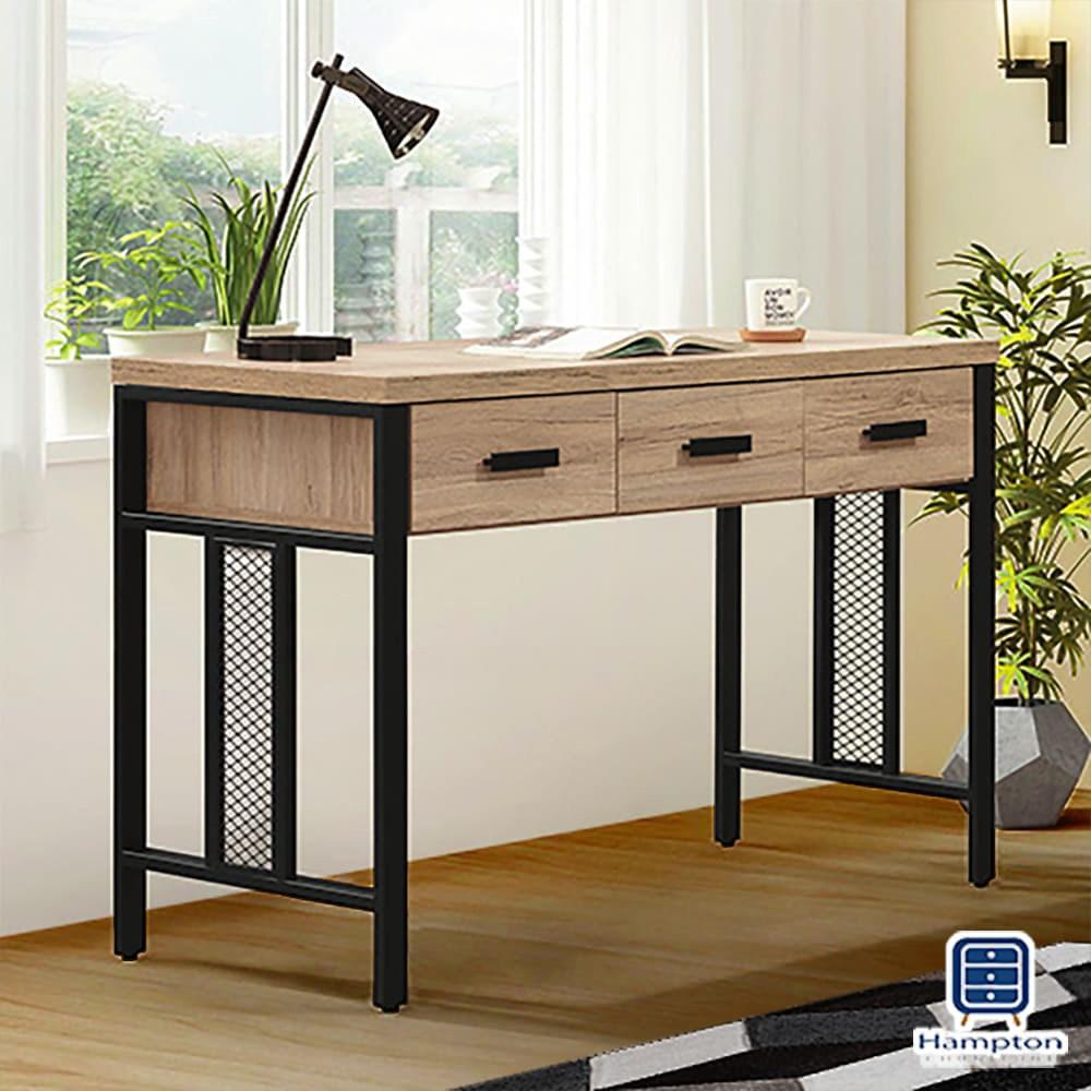 【Hampton 漢汀堡】科爾特橡木4尺書桌