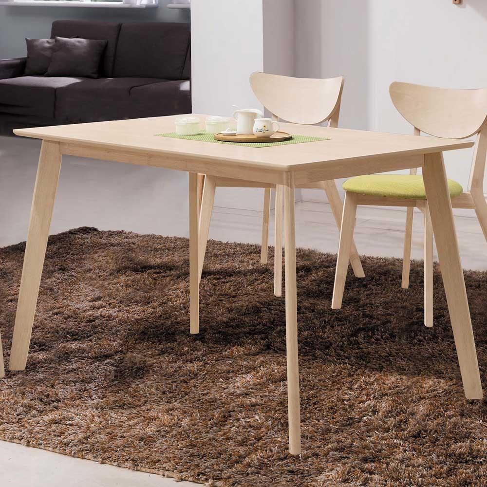 Homelike 芙凱4尺原木餐桌-120x75x75cm
