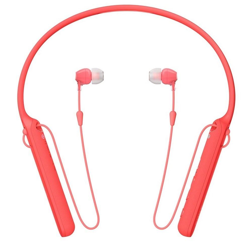 SONY WI-C400  無線藍牙麥克風入耳式耳機紅色