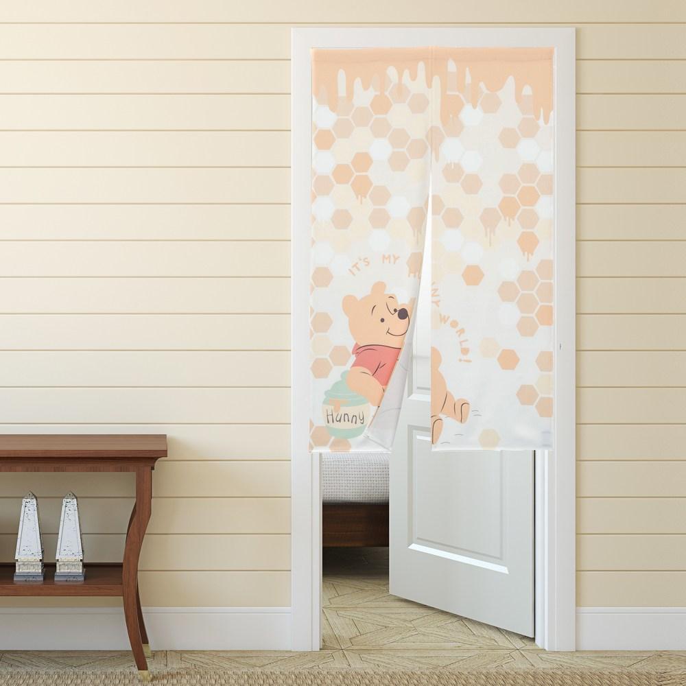 HOLA 迪士尼系列 維尼印花長門簾 寬90x高150cm Winnie the Pooh