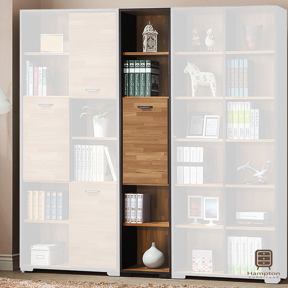 【Hampton 漢汀堡】奧蘿拉集層木1.35尺一門書櫃