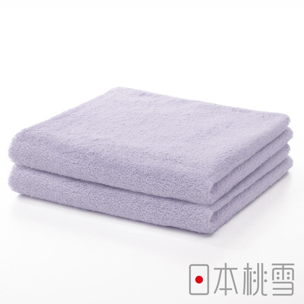 日本桃雪【精梳棉飯店毛巾】超值兩件組 雪青
